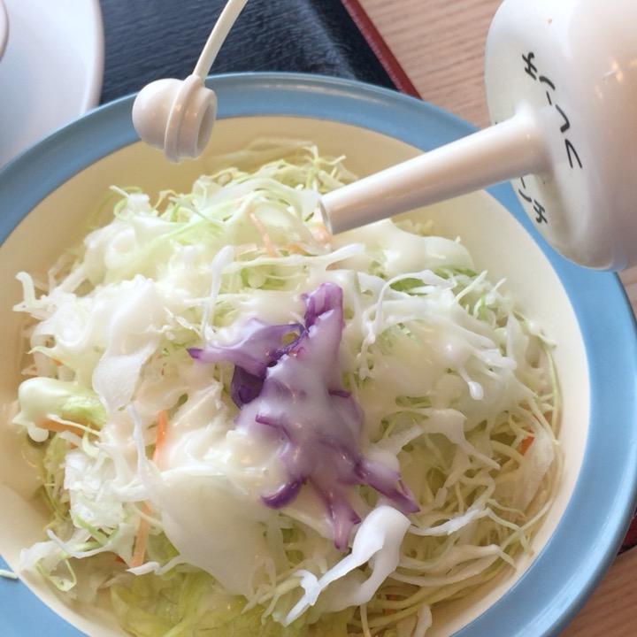 松屋のサラダ
