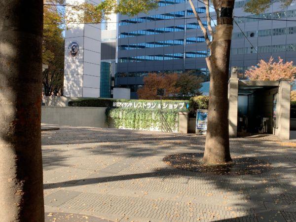 新宿アイランドタワーの下
