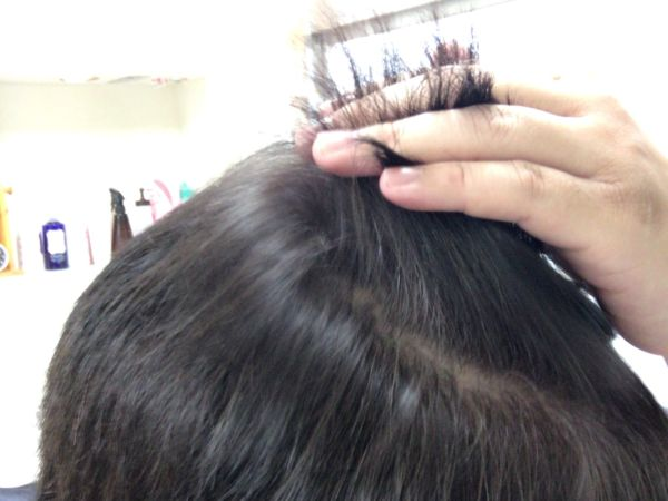 染めた後の髪の毛
