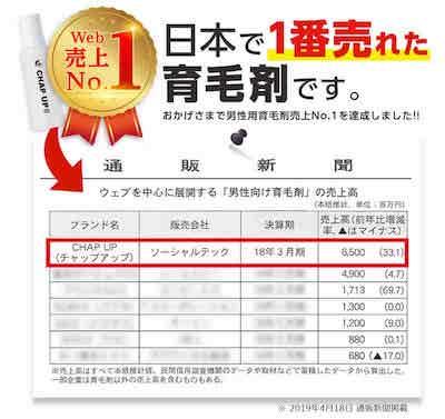 日本で一番売れた育毛剤