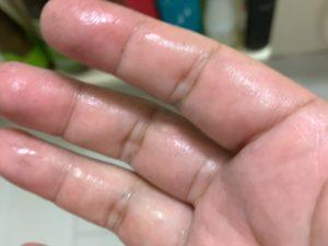 手は汚れませんでした